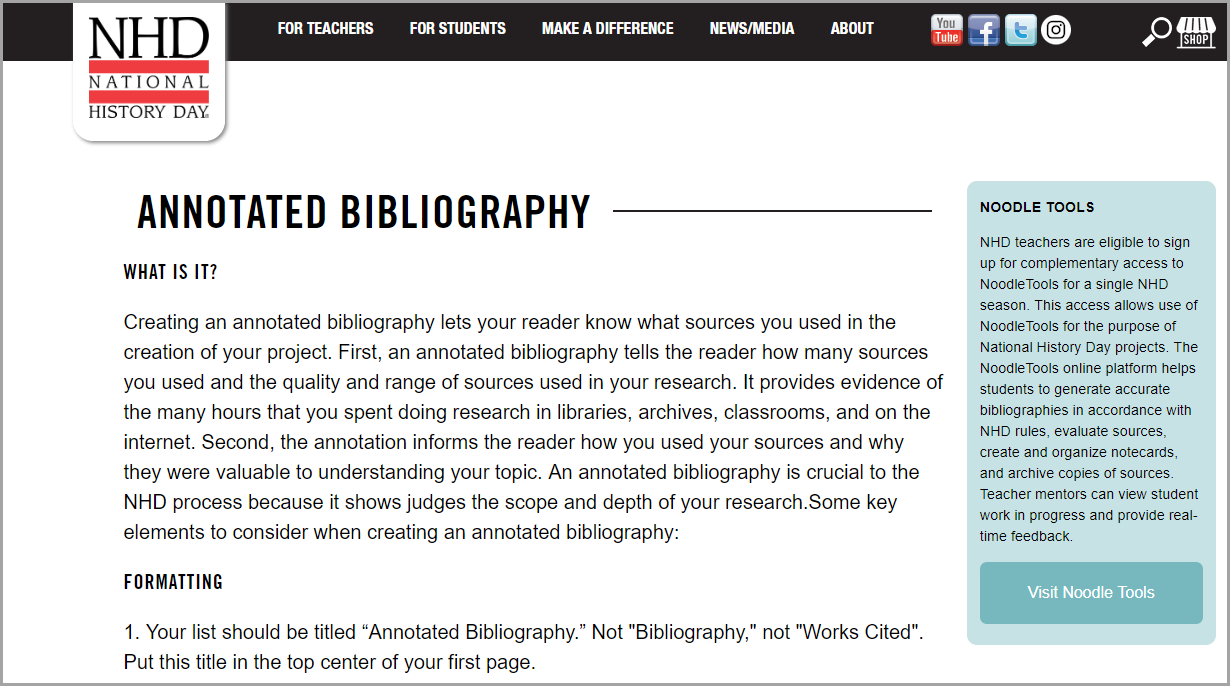 Create annotated bibliography online