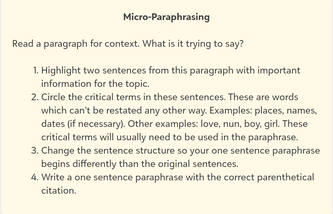 microparaphrasing