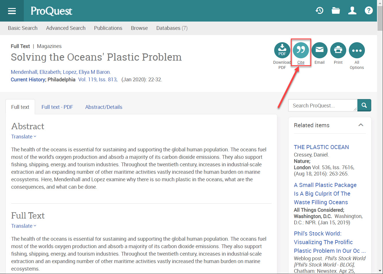 ProQuest Cite